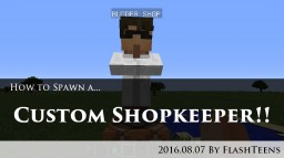 [Tutorial] Spawning a Custom Shopkeeper in Vanilla Minecraft Minecraft Blog Post