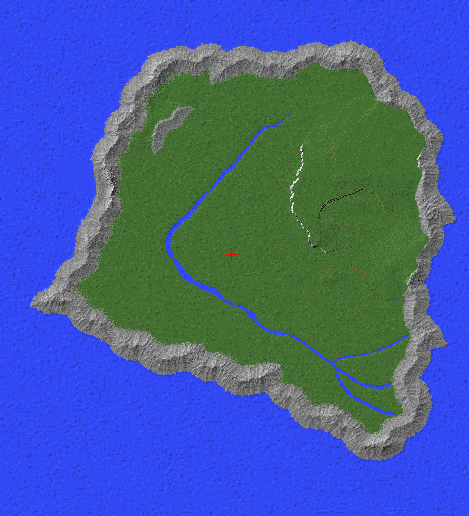 Jurrasic Park Island Map