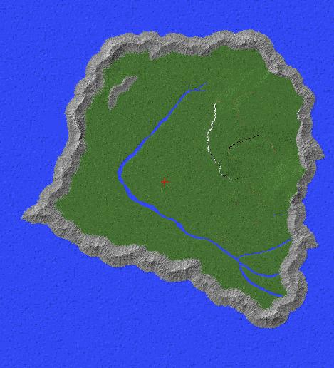Isla Sorna (novel version) Full Size Minecraft Project on