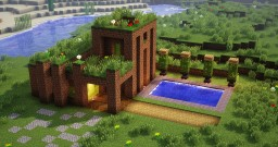 Dirt Modern House Minecraft Map & Project