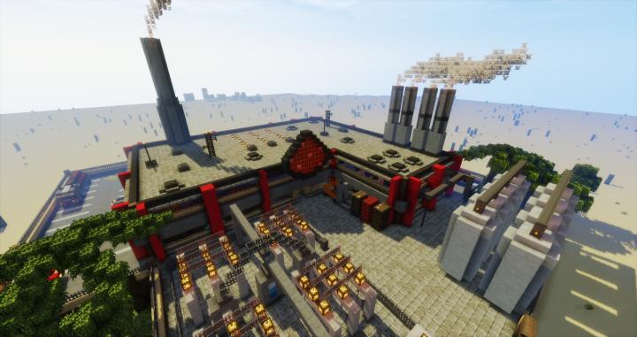 Redstone Power Plant Minecraft Project