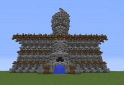 Huge Medieval Townhall spawn Minecraft Project