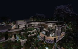 Modern cliffside house Minecraft Map & Project