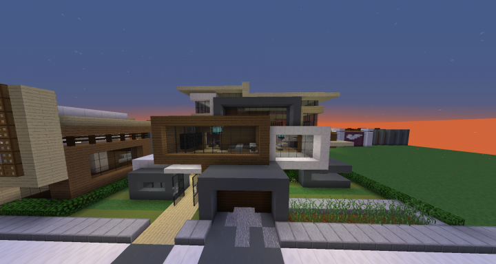 Modern house 2 schematic minecraft project for Modern house schematic