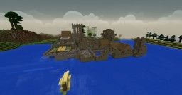 Fortified sea village with port