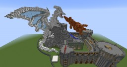 Castle against the white Dragon ---MAY HUB?--- Minecraft