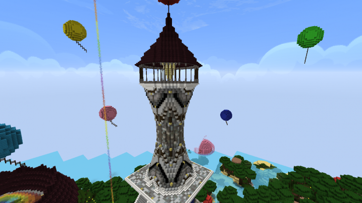 Tall Tower With Spiral Staircase Minecraft Map