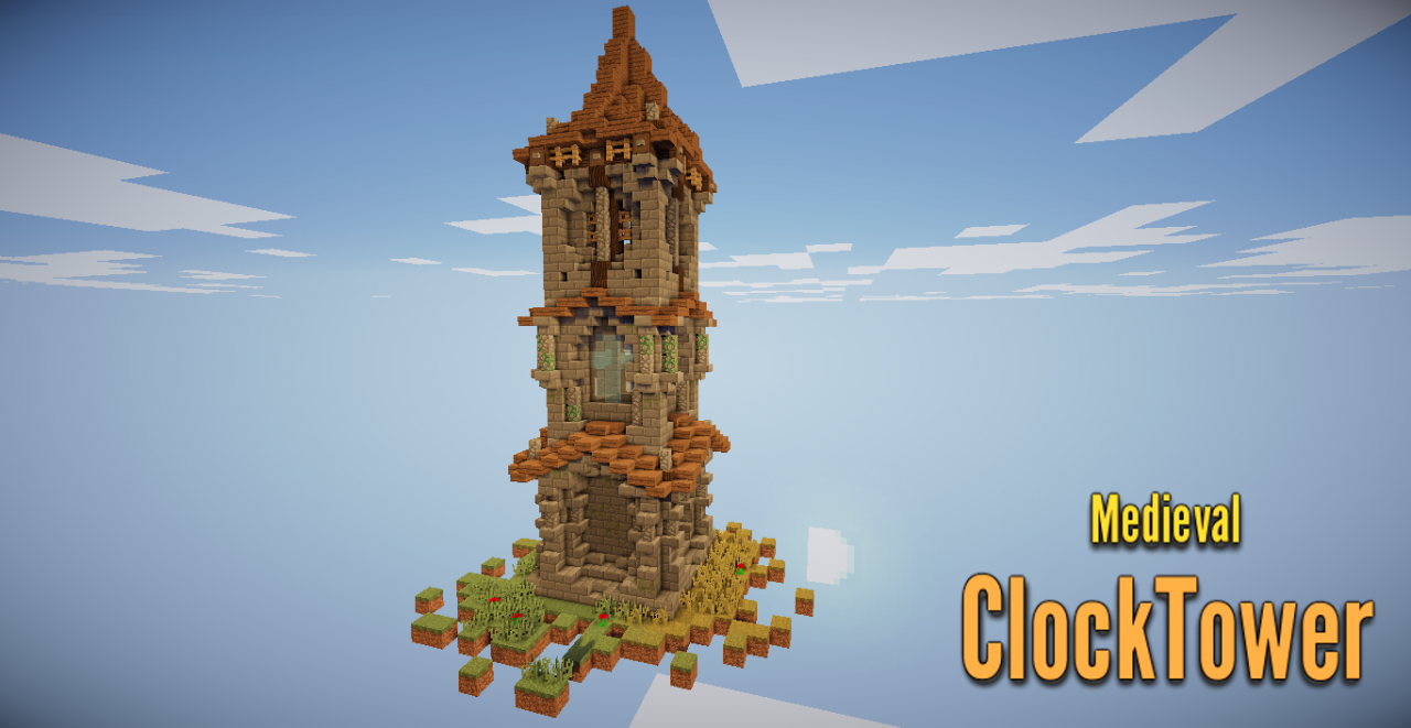 . Medieval Clock Tower  Schematic  Minecraft Project