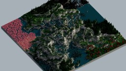 Ethereal Flow - 2k x 2k Multibiome Custom Terrain - 360 Panorama Minecraft