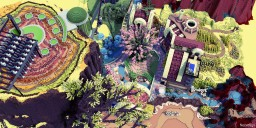 the wonder island: the happy mouse and the intelligent robot Minecraft Map & Project