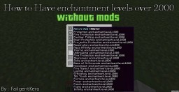 How to get enchantment level 1000+ Minecraft Blog Post