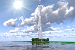 Canton Tower —— A beautiful iconic building in Guangzhou Minecraft Map & Project
