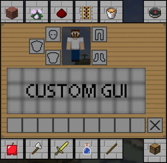 Custom font and GUI