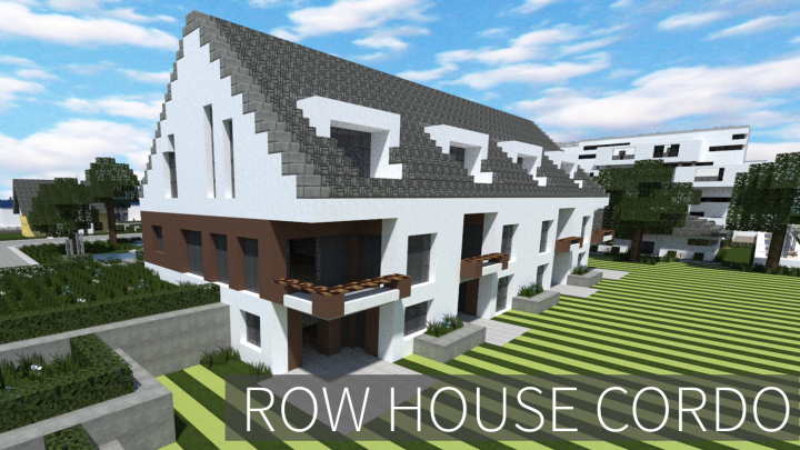 Modern Row House Cordo Minecraft Project