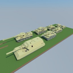 German Tank Line 1:5 Minecraft Project