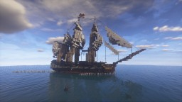 18th century frigate,  USS Doldrums Minecraft Map & Project