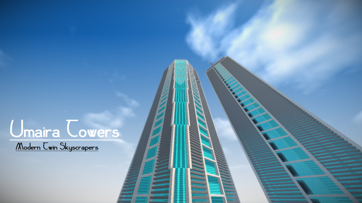. Umaira Towers   Modern Twin Skyscrapers Minecraft Project