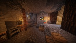 Cave transformed into a house Minecraft Map & Project