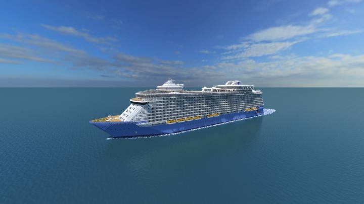 Allure Of The Seas Cruise Ship Full Interior Scale - Allure cruise ship