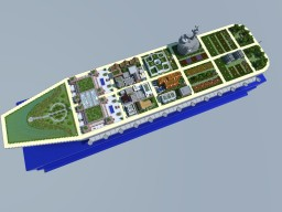 Aircraft Carrier City - Sustainable City Contest Minecraft