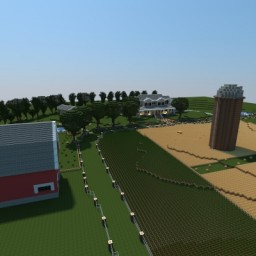Minecraft 1.10 FARM! Complete with barn, silo, house, and MORE! Minecraft Map & Project