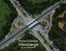 Realistic Partial Cloverleaf Interchange | Republic of Union Islands Minecraft Map & Project