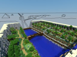 'Oasis Falls' City Minecraft Project