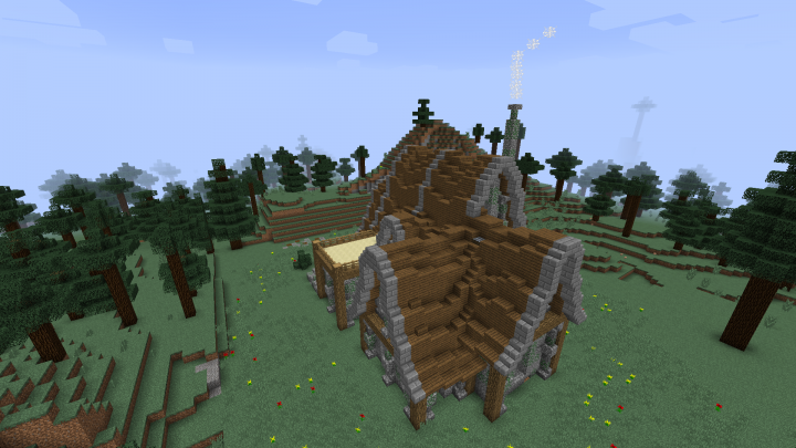 rustic house based off of dynradeths build 4 rustic house based off of