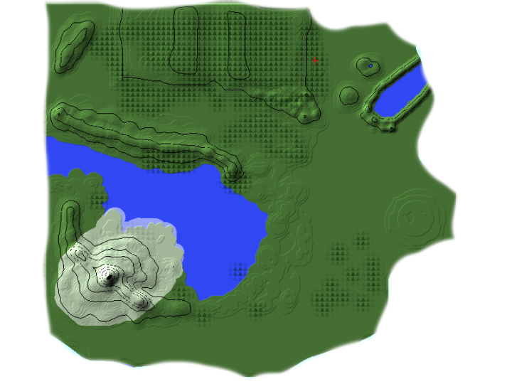 This map is currently out of date. the landscaping has improved and the snow around Mount Hylia spreads much further.