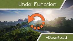 Undo function in vanilla Minecraft 1.10 Minecraft Map & Project