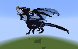 Large Blue Obsidian Dragon [Downloadable] Minecraft Project
