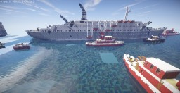 Burning cruise ship wreck Minecraft Map & Project