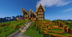 Multi Level Rustic/Medieval Home Minecraft Map & Project