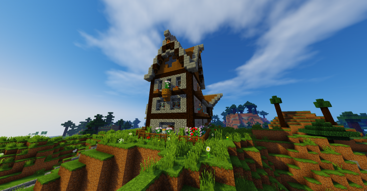 Multi Level Rustic Medieval Home Minecraft Project