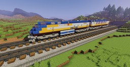 Modern Train with Tracks Minecraft Map & Project