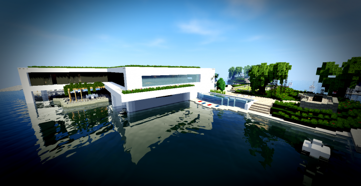 Maison moderne 10 minecraft project - Creation maison 3d ...