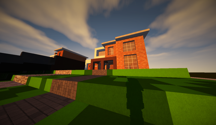 Modern house 6 minecraft project for Modern house projects