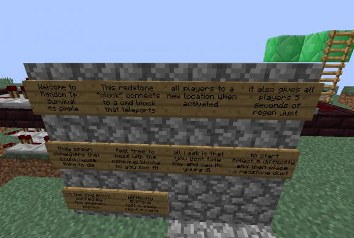Random Teleport Survival Minecraft Project - Minecraft teleport player to location