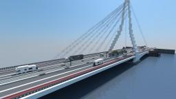 The Erasmus Bridge - Rotterdam Minecraft Map & Project
