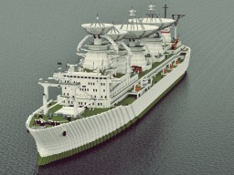 """Soviet vessel / Научное судно """"Космонавт Юрий Гагарин"""" Minecraft"""