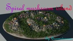 spiral mushroom island Minecraft Map & Project