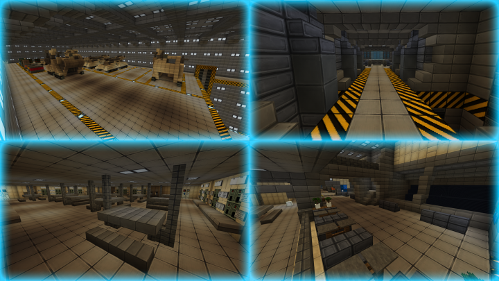 Vehicle bay 4, ODST drop pods 1, Mess hall 1, Observation and rest sector.