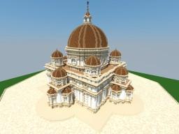 Renaissance church based on Da Vinci's drawings Minecraft Map & Project