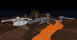 Mustafar from Star Wars episode III Revenge of the Sith Minecraft Map & Project