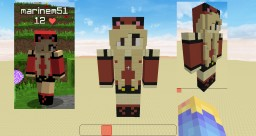 Neko Girl 3D Statues Minecraft Project