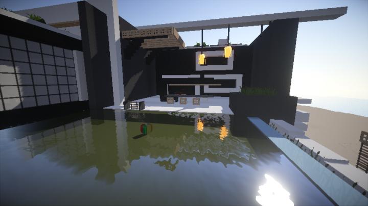 villa moderne sur une le 1 minecraft project