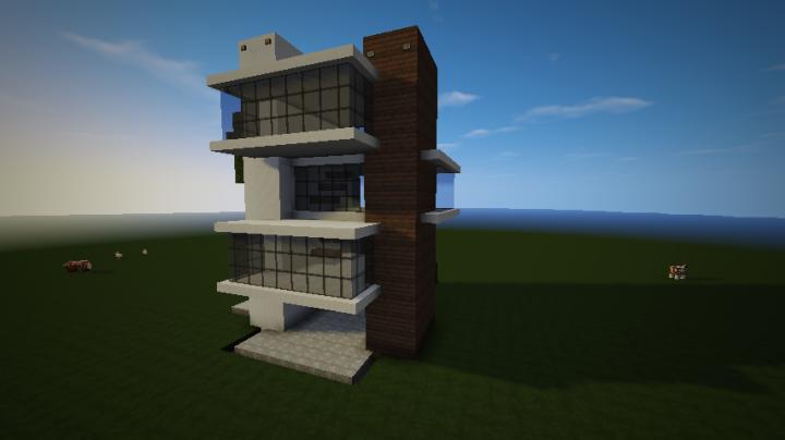 Petite maison moderne a am nager minecraft project for Petite maison moderne