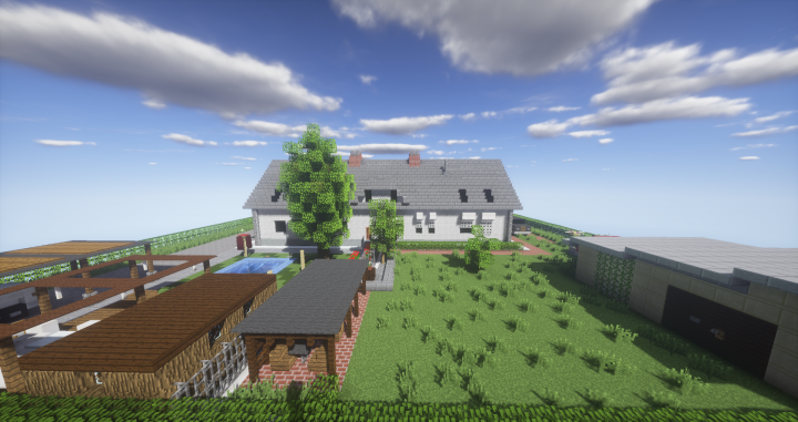 Modern duplex house minecraft project for Duplex project