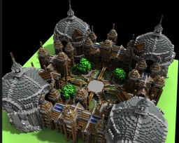 A Medieval Hub Spawn Minecraft Map & Project