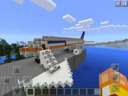 Boeing 787-9 United Continental Minecraft Map & Project
